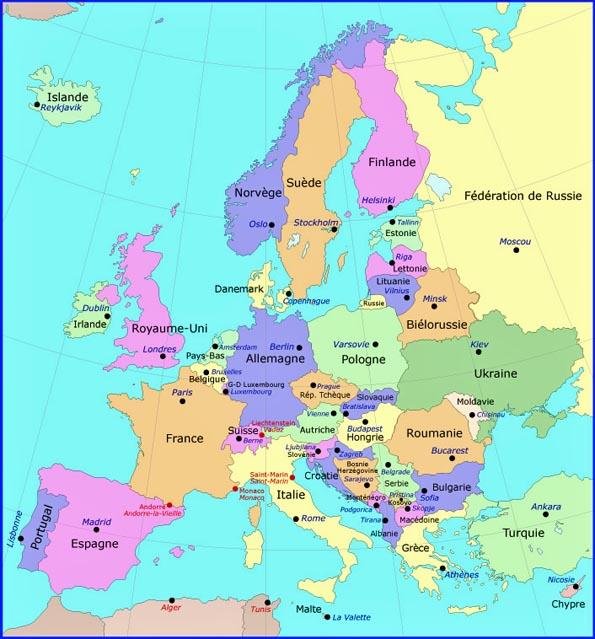 Carte D Europe Sans Les Noms | casamagenta