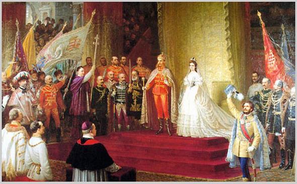 """Résultat de recherche d'images pour """"couronnement françois joseph roi hongrie"""""""